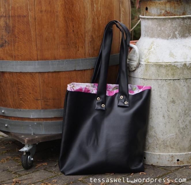 Tasche-schwarz:pink1